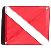 Marine Sport 4678 Deluxe 50cm by 60cm Dive Flag with hook and loop Attachment