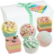 """Gift Set - Set of 6 BRUBAKER Cosmetics Bath Bombs """"Sweets For My Sweet"""" Handmade & Natural"""