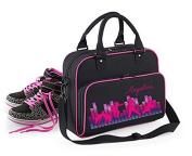 Junior Dance Bag Shoulder Bag Carrying case Casual pack with Name and Personal picture - Black / Fuchsia