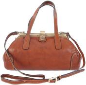 Gianni Conti Fine Italian Leather Tan Gladstone Grab Shoulder Bag 913318
