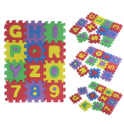Tonsee® 36pcs (6*6cm/Pcs) Soft EVA Foam Baby Children Kids Spliced Play Mat Alphabet Number Puzzle Jigsaw