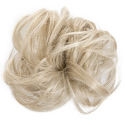 New Scrunchy Bun Up Do Hair Piece Hair Ponytail Extensions Curly 37385 Large Scrunchie-613/16