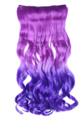 MISS20 50cm Curly Gradient Synthetic Clip-on In Hair Extension Hair Piece