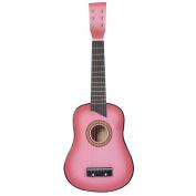 Goplus® 60cm Pink Beginners Kids Acoustic Guitar 6 String with Pick Children Kids Gift