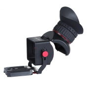 Movo Photo VF40 Universal 3X LCD Video Viewfinder with Flip-Up Eyepiece for Canon EOS, Nikon, Sony Alpha, Olympus & Pentax DSLR Cameras - Fits 7.6cm - 8.1cm Screens