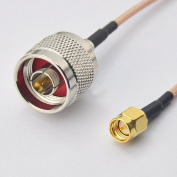 RF coaxial coax cable assembly SMA male to N male 15cm