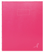 BLUELINE 23cm x 18cm Pink Ribbon NotePro Notebook, 150 Ruled Pages, Bright Pink