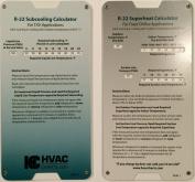 R22 Superheat Subcooling Calculator Charging Chart
