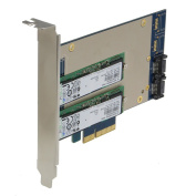 SEDNA - PCIe Dual M.2 SSD SATA 6G 4 Port Raid Adapter with HyoperDuo Hard disc acceleration function