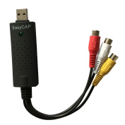 Generic UVC Usb2.0 Video Capture Card, Compatible Window/linux/max Black
