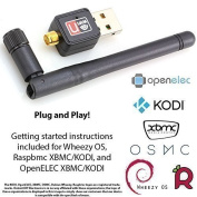 Wifi With Antenna For Raspberry Pi - Instructions Included - PLUG and PLAY