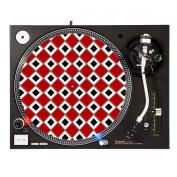 Red White Checkerboard - DJ Turntable Slipmat