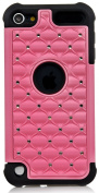 iPod Touch, iSee Case (TM) Hybrid Luxurious Lattice Dazzling Bling Bling Total Defence Dual Layer Combo Hard Soft Skin Gel Case For Apple iPod Touch 5 5th Generation itouch 5