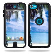 Mightyskins Protective Vinyl Skin Decal Cover for OtterBox Defender Apple iPod Touch 5G 5th Generation Case Beach Bum