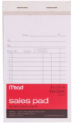 Mead 64804 14cm x 8.3cm . White Sales Pad - 50 Count