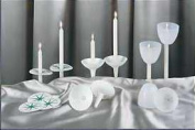 Emkay Candles 331425 Candle Reusable Plastic Candle Holder