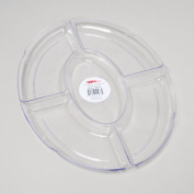 RGP 41037P Tray 5 Section Clear Oval Pack Of 48