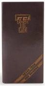 ZeppelinProducts TXT-IWD4-BRW Texas Tech Secretary Debossed Leather Wallet