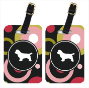 Carolines Treasures KJ1061BT Sussex Spaniel Luggage Tags - Pair Of 2