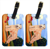 Carolines Treasures 7509BT Wheaten Terrier Soft Coated Luggage Tags Pack - 2