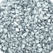 Sandtastik ICE1005 Coloured ICE Real Glass Gems Scatters 4.5kg. Box 1.5 - 4 mm. - Silver