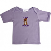 Lil Cub Hub 5CSSTGBL-1824 Lavender Short Sleeve T-Shirt - Girl Bear 18-24 months