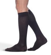 Sigvaris Business Casual 189CC99 15-20mmHg Mens Business Casual Closed Toe Socks - Black Size C