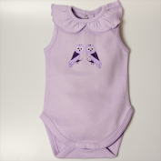 Little Ashkim BGCBS912 Ruffled Collar Sleeveless Bodysuit - Lilac 9-12 months