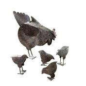 Eastwind Gifts 31170 Metal Chicken Sculptures