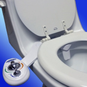 Blue Bidet BB-2500 Dual Multi-Positions Self Cleaning Nozzle Attachable Bidet for Ambient Water Temperature White