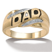 PalmBeach Jewellery 7396_12 Mens Diamond Accent 10k Yellow Gold Dad I.D. Ring - Size 12