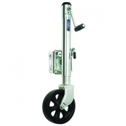 Fulton XP15 0101 Steel Swing-Away Bolt-On Jack with 25cm Travel and 20cm Poly Wheel - 680kg. Weight Capacity