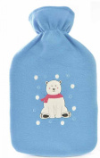 Kids Novelty Soft Fleece Covered Hotwater Bottle - Polar Bear