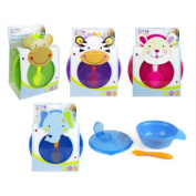 First Steps Travel Feeding Bowl and Spoon Set - Purple