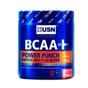 BCAA Power Punch 400g Tangerine Flavour ,The USN BCAA Power Punch offers a great tasting, easy to mix and dynamic amino acid formula