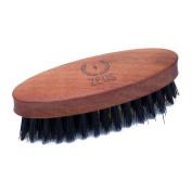 Zeus 100% Boar Bristle Pocket Beard Brush for Men - Firm Bristle Small Beard Brush - Made in Germany