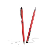 Deet® Luxury Red Touch Screen Stylus Pen with Twist to use Black Biro Writing Pen
