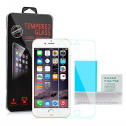 Apple iPhone 6S - Premium Tempered Glass Screen Protector Guard Cover Ultra Thin Lightweight Rounded Edge Hardness up to 9H Screen Protectors Retail Packed with Cleaning Cloth and Alcohol Prep Pad
