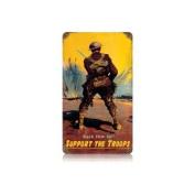 Past Time Signs V006 Back Him Up Allied Military Vintage Metal Sign