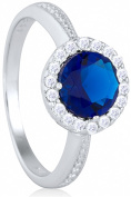 Doma Jewellery MAS02290-7 Sterling Silver Ring with Cubic Zirconia - Size 7