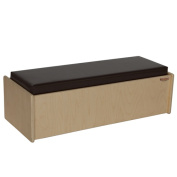 Wood Designs 31800BN Double Bench With Brown Cushion