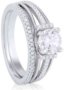 Doma Jewellery MAS09391-8 Sterling Silver Ring with Micro Set Cubic Zirconia Size 8