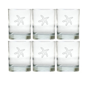 Carved Solutions Old Fashion Glass Set Of 6-Sfish