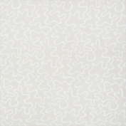 Designer Fabrics U0090B 140cm . Wide Ivory Abstract Large Squiggly Pattern Upholstery Fabric