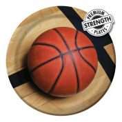 Creative Converting 427964 23cm . Sports Fanatic Basketball Dinner Plates - Case of 96