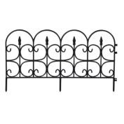 EmscoGroup 2093HD Victorian Fleur De Lis Medium Resin Garden Fence 7.9m