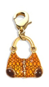 Whimsical Gifts 4508G Reptile Purse Charm Dangle Gold