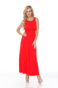 White Mark 302- Red-S Womens Katherine Maxi Dress Red - Small