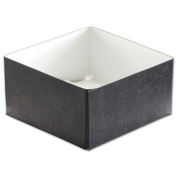 Deluxe Small Business Sales H63-2094 6 x 15cm x 7.6cm . Swirl Hi-Wall Gift Boxes Black