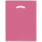Deluxe Small Business Sales 248-1215-22 30cm x 38cm . Die-Cut Handle Bags Pink